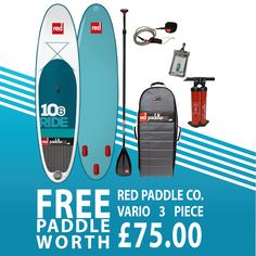 The Red Paddle Co Ride is an award winning as well as the best-selling inflatable paddleboard in the world. Inflatable Paddle Board, Clean Design, Paddle Boarding, Two By Two, Things To Come, Boards, Red, Planks, Stand Up Paddling
