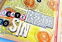 Bible Journaling : Romans 6:20-23   Bonita Rose   ---    Masking the scripture you're studying on this page to make it the focus.