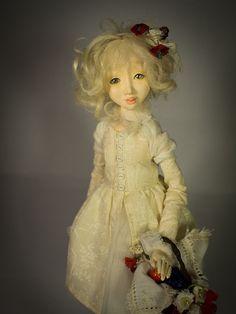 Little Gardener and Fox Handmade air-dry clay doll, OOAK by Romantic Wonders Clay Dolls, Air Dry Clay, Disney Characters, Fictional Characters, Fox, Victorian, Romantic, Disney Princess, Handmade