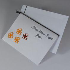 """Trauerkarte für ein verstorbenes Kind """"Schmetterlinge"""" in orange - für Kinder - Trauer- und Kondolenzkarten - Cardlove.de"""
