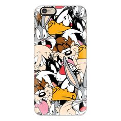 iPhone 6 Plus/6/5/5s/5c Case - Looney Tunes Party All-Over Print ($40) ❤ liked on Polyvore featuring accessories, tech accessories, phone, technology, iphone case, iphone cover case and apple iphone cases