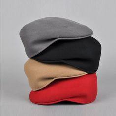 fa84b998fee Cheap Mens invierno REAL luxury lana Beret Cap Cabbie del vendedor de  periódicos sombrero plano Gatsby