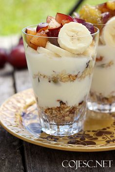 Musli z patelni w 5 minut Biscuit Amaretti, Granola, Trifle, Panna Cotta, Food And Drink, Pudding, Cooking, Breakfast, Healthy