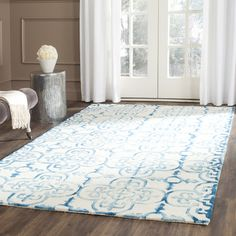 """Darby Home Co Kinzer Hand-Tufted Ivory/Turquoise Area Rug Rug Size: Runner 2'3"""" x 10'"""