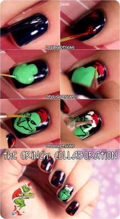 Steal Christmas this year with this Grinch Inspired Nail Art Tutorial...x