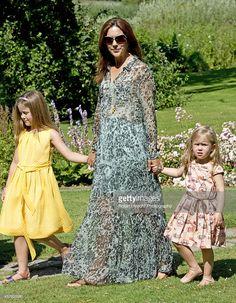 Crown Princess Mary of Denmark, Princess Josephine of Denmark (R) and Princess…