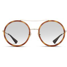 Gucci GG0061S Brown (18,790 DOP) ❤ liked on Polyvore featuring accessories, eyewear, sunglasses, glasses, brown, double bridge glasses, lightweight glasses, gucci, gucci glasses and gucci eyewear