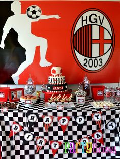 AC Milan inspired birthday!   www.facebook.com/partyliciousevents