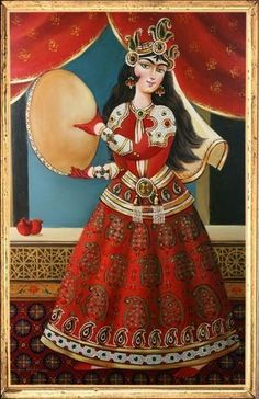Qajar Painting - Bijan Ghaderi
