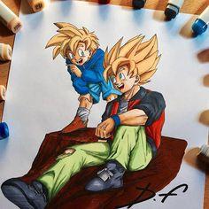 Yo guys!  Finally is DONE! ✅ Son Gohan and Son Goku from Dragon Ball Z! Hope you like it!  #image #instaart #illustration #imageoftheday #otaku #goku #pen #pic #paint #painting #pencil #picture #gokussj #art #anime #artist #amazing #artbook #animeart #dragonball #animedrawing #sketch #draw #drawing #gohanssj2 #dragonballz #gohan #creative #manga #mangaka