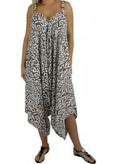 NEW GYPSY AZTEC BOHO STYLE JUMPSUIT PANTSUIT ONESIE PLAYSUIT PLUS SIZE 18 - 22  $59.95