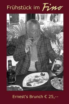 Ernest's Brunch im FINO: Eier, Schinken, Wurst, Käse - all You can eat, dazu 1 doppelter Espresso & 2 doppelte Whisky