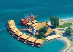 Above water bungalos Cheap Accommodation, Water Villa, Hotel Reservations, Statue Of Liberty, Tropical, Luxury, Building, Villas, Travel