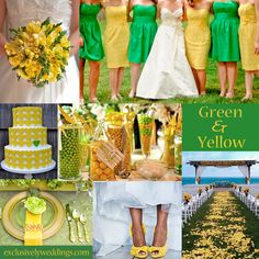 wedding themes, yellow weddings, cakes, wedding planning tips, wedding blog, color combinations, wedding colors, green weddings, theme weddings