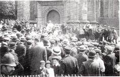 SUFFRAGETTE MEETING (1919) | St Austell, Cornwall: Outside St Austell Church