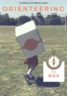 Teach your Cub Scouts how to use a compass so they can go orienteering in a box. Find instructions, routes and route cards in this post.