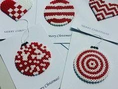Christmas cards hama perler beads by geekofmine … Perler Bead Designs, Hama Beads Design, Hama Beads Patterns, Beading Patterns, Christmas Perler Beads, Art Perle, Peler Beads, Iron Beads, Melting Beads