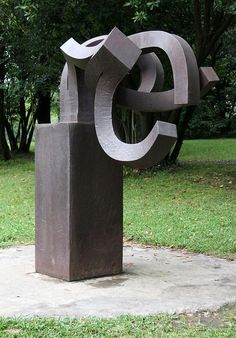 """Eduardo Chillida (San Sebastián, Spain, 1924 - 2002) made a series of 24 iron sculptures called """"Peine del Viento '. The one of the picture is number seventeen of the series"""
