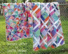 Springtime Diamond Lattice and Diamond Extra Quilts | FaveQuilts.com