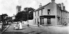 Tour Scotland Photographs: Old Photograph Monkton Road Prestwick Scotland