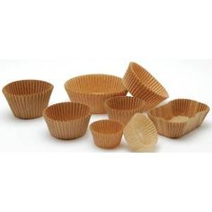 These paper baking cups measure 2 x 1 (Bottom Dia. The unbleached paper construction is eco-friendly and compostable. These paper baking cups come in a case of Baking Packaging, Baking Cups, Natural Shapes, Food Service, Flute, Coffee Shop, Dinnerware, Decorative Bowls, Bakery