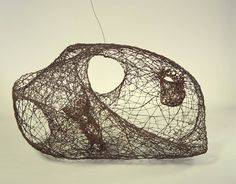 Envelope by Claire Falkenstein / American Art String Installation, Art Installations, Abstract Sculpture, Abstract Art, Wire Drawing, Art Prompts, Art Themes, Modern Artists, Wire Art