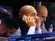 Carlos Boozer takes in the Duke vs KU game with our ADOPTED Leather Wrap in White/Gold in hand.    #Bulls #Chicago #Boozer #getADOPTED #accessories