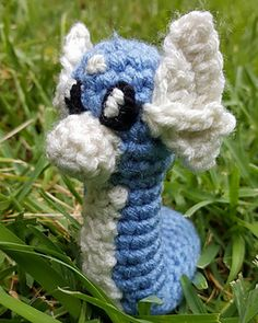 Dratini is a quick pattern to work up. It would be awesome to find one at a Pokestop!