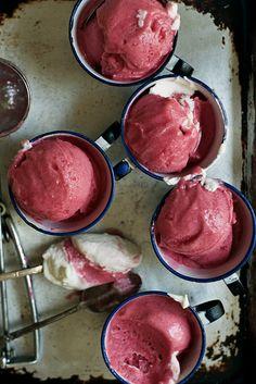 Rhubarb & Gin Sorbet with Rose Cream | Apt. 2B Baking Co.