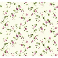 """Waverly Cottage Sweet Violets Trail 27' x 27"""" Floral and Botanical Wallpaper"""