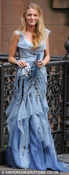 LOVE this pretty blue gown.