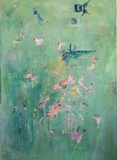 Marcin Kempski, 70x100, gouache, watercolor, acrylic, acryl paint on canvas