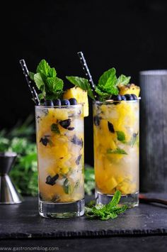 Blueberry-Pineapple-Mojito - A-Rum-Cocktail