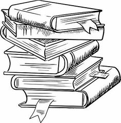 Stack of books with bookmarks Royalty Free Vector Image , Pile Of Books, Stack Of Books, Colouring Pages, Coloring Books, Book Clip Art, Image Clipart, Book Drawing, Sketch Notes, Book Tattoo