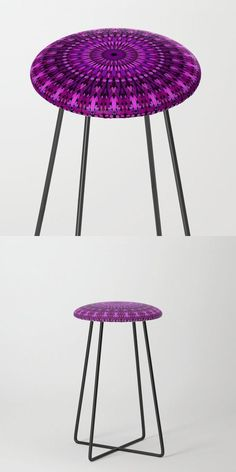 Magical Purple Floral Mandala Counter Stool by David Zydd #BestCounterStools #MandalaCounterStool #Geometric #Mandala #FloralArt (tags: purple, mandala, product, mandala graphic, boho, bohemian decor, flora, sacred, ornate, yoga, chakra, meditate, mantra, mandala stool, floral, bohemian home, geometry, geometrical)