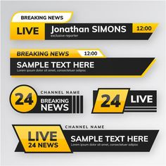 Breaking news banners style Free Vector Basic Sketching, Twitch Streaming Setup, Branding Design, Logo Design, Powerpoint Design Templates, Japanese Typography, Home Quotes And Sayings, Corporate Flyer, Garage Design