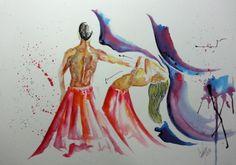 Primeira Aquarela de 2014 #dance #watercolor #art