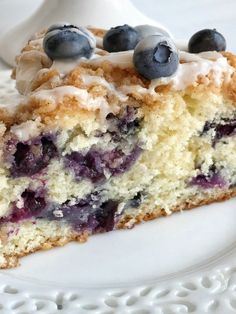 Blueberry streusel coffee is so fluffy, moist, buttery, and bursting with fresh berries and sweet streusel topping.