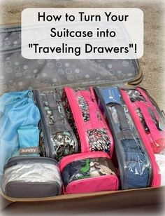 I love packing cubes.Awesome tips for packing a suitcase and keeping it organized the entire trip!