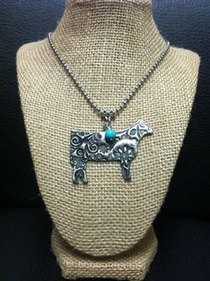 Hand-Stamped Show Cattle Necklace