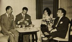 Frances with Reggie (far right) and friends in Jersey -- the smile masks a terrifying marriage. according to diary entries that have recently come to light