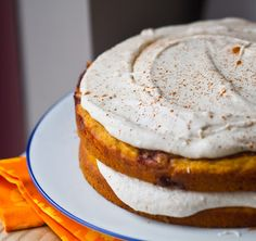 Pumpkin Cinnamon Bun Layer Cake. vegan.