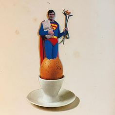 #collage #collageart #collageartist #collagecollectiveco #collagist #analog #analogcollage #handmade #handmadecollage #superman #egg #cutnpaste #contemporarycollage #cutandpaste #coucou #christopherreeve