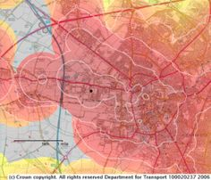 Travel time map in Cambridge (Dept. of Transport) Transport Map, Flow Map, Off The Map, Past Present Future, City Maps, Travel Aesthetic, Data Visualization, Plans, Time Travel