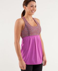 Power Dance Tank - Heathered ultra violet/wee are from space multistripe