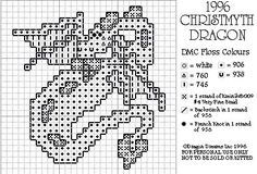 """Free/Courtesy Cross-Stitch Pattern copyright of  Dragon Dreams, Inc.  See more at http://dragondreams.accra.ca/Sample_Charts.html and respect their note """"Why are there less samples on this site? Those who share patterns illegally have ended up ruining the fun of many honest and caring stitchers. Many...sharing patterns by scanning them in is breaking the law!...check out http://www.copyright.gov/fls/fl102.html   Please respect the copyright of those patterns...still...here on our site."""""""