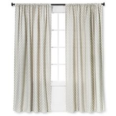 Nate Berkus, Woven Curtain Panels drape beautifully and block light effectively for a perfect combination of pretty and practical. Whether you want to darken a room, block drafty windows, ensure privacy or simply add a touch of decoration to your home, these stylish curtains are sure to do the trick. Includes 1 window panel.