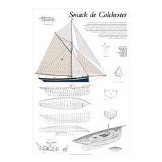 Smack de Colchester, plan de modélisme
