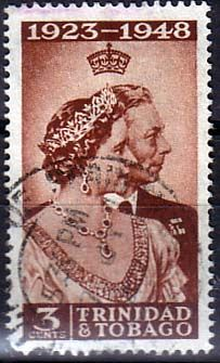 Trinidad and Tobago 1948 SG 259 Royal Silver Wedding Fine Used SG 259 Scott 64 Other Commonwealth Stamps Here