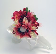 Pink prom corsage with detachable clip